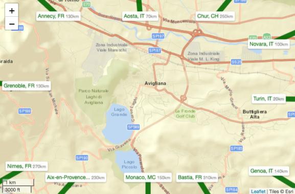 A Context Frame for Interactive Maps