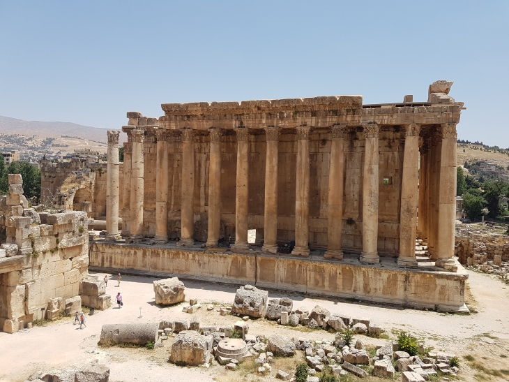 Roman ruins in Baalbeck. See people for scale.